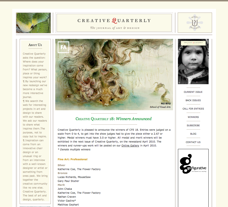 Creative Quarterly Website